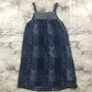 🌼Old Navy Girls Blue and White Print Dress Size 8